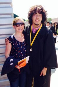 Hailly Korman with her former student Michael at his high school graduation