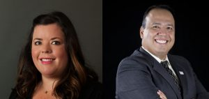 headshots of Margo Roen, Education First, and David Saenz, Forth Worth Independent School District