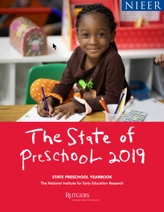 Cover of the National Institute for Early Education Research 2019 State Preschool Yearbook